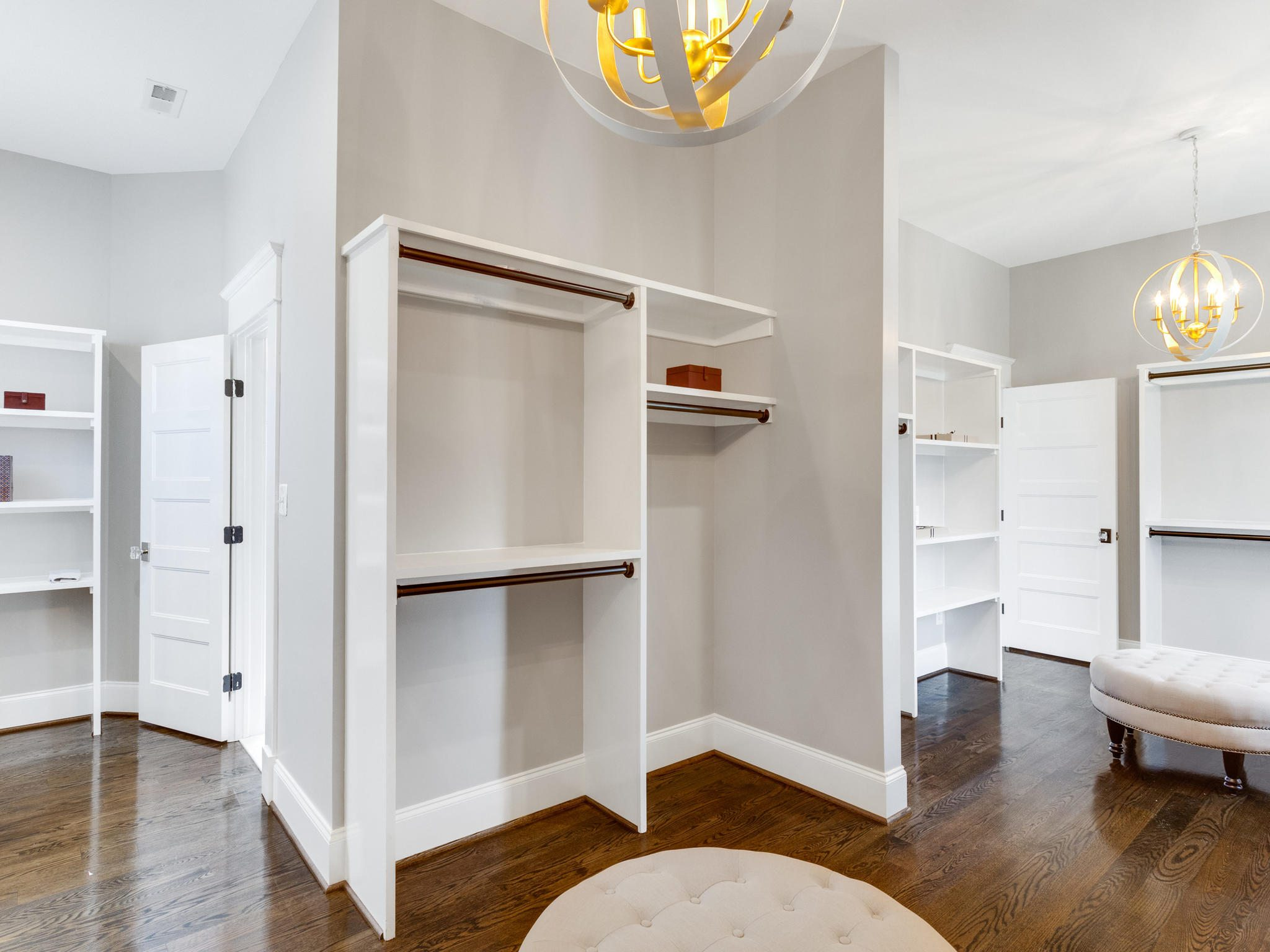 Double master walk in closet has 2 entrances and wraps around master bath. Custom Home by Custom Builder, North Arlington, VA 22207