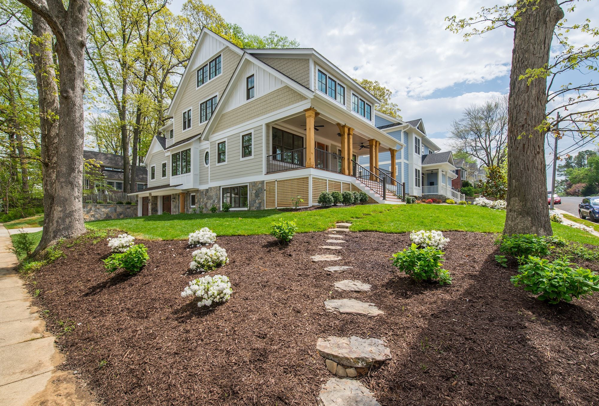 Newly developed corner lot with big trees in N Arlington. Custom Home by Custom Builder, North Arlington, VA 22207