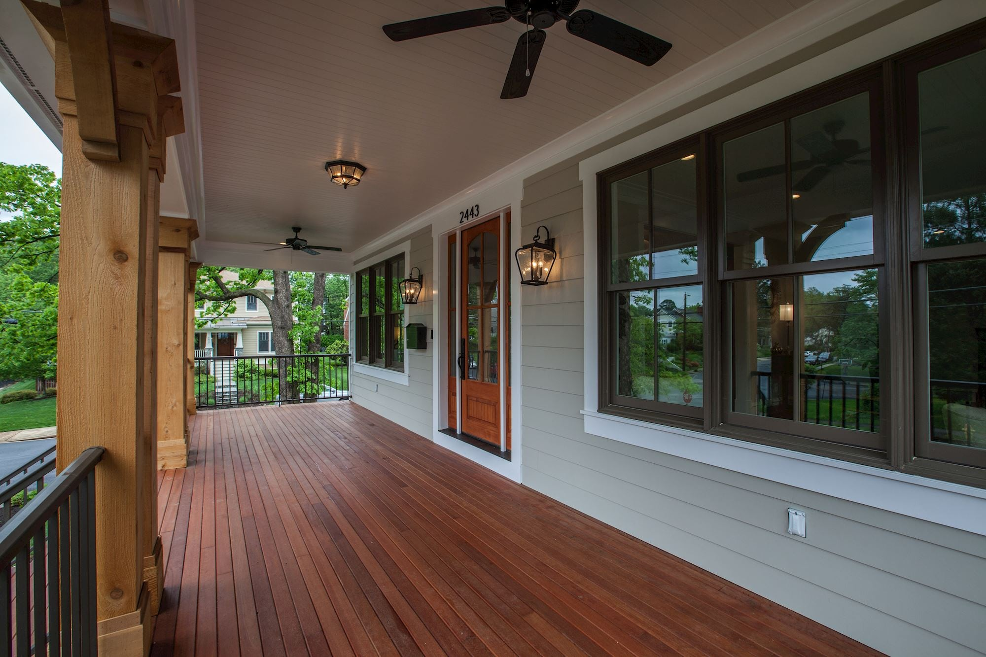 An inviting front door to greet guests or dine el fresco. Custom Home by Custom Builder, North Arlington, VA 22207