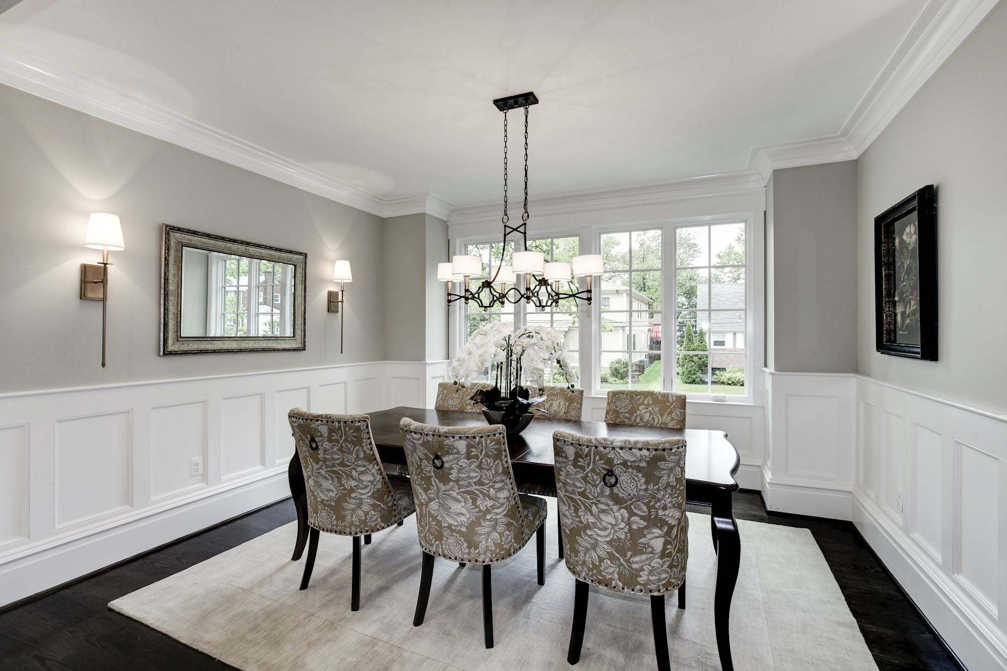 Dining room has tree top views. Custom Home by Custom Builder, North Arlington, VA 22207