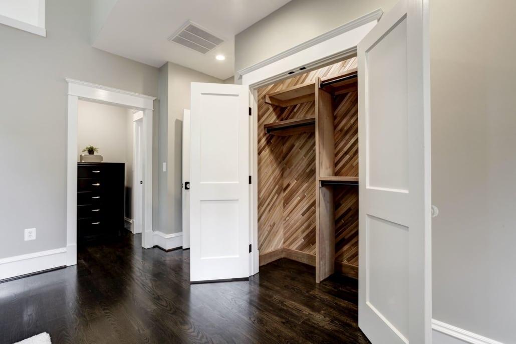 Cedar closet. One of 2 master closets. Custom Home by Custom Builder, North Arlington, VA 22207