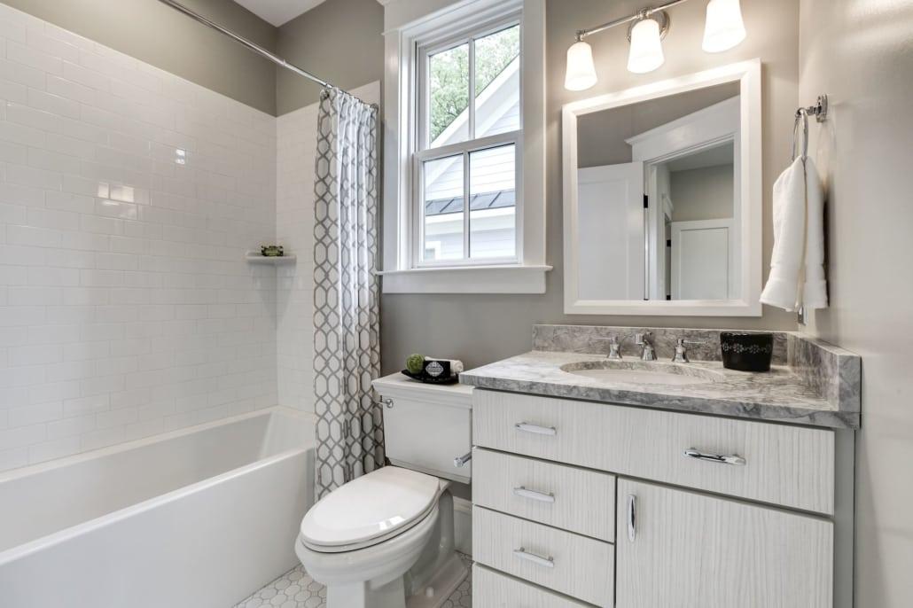En suite bath. Custom Home by Custom Builder, North Arlington, VA 22207