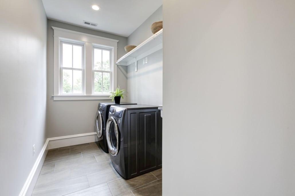 Upper level laundry room. Custom Home by Custom Builder, North Arlington, VA 22207