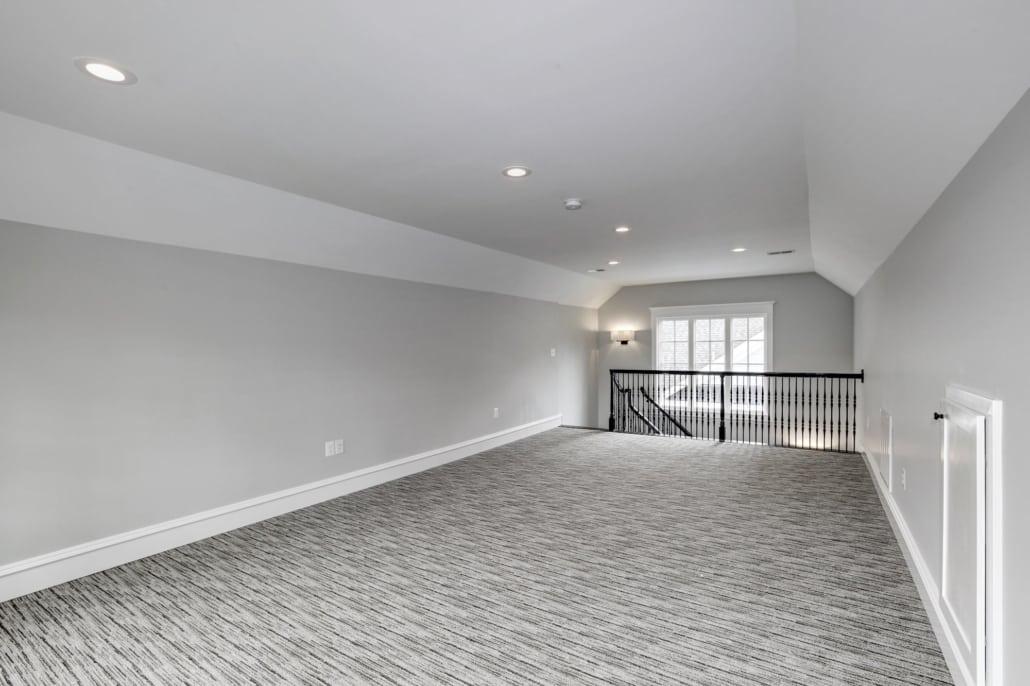 """3rd floor """"Bonus Room"""". Custom Home by Custom Builder, North Arlington, VA 22207"""