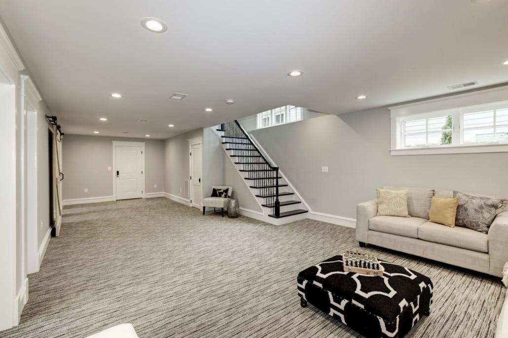 Lower level leads to garage, bedroom, bonus room, mudroom. Custom Home by Custom Builder, North Arlington, VA 22207