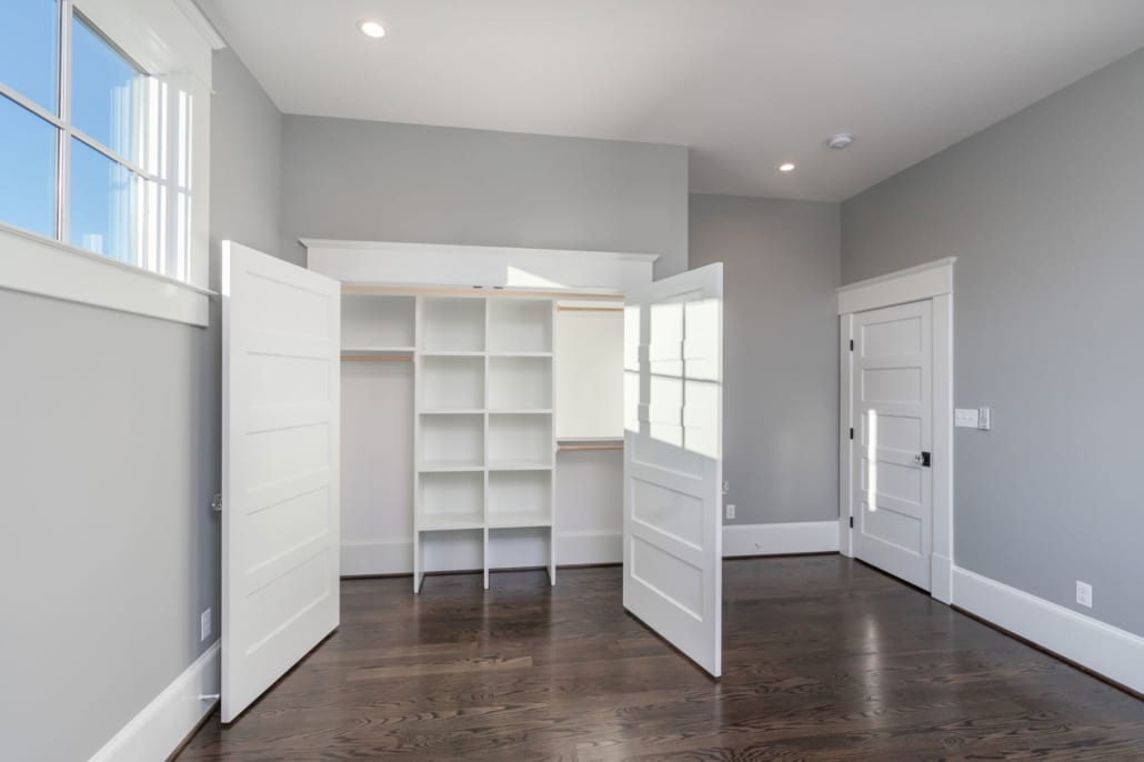 All of the 4 secondary bedrooms have these custom closets with automatic lighting.