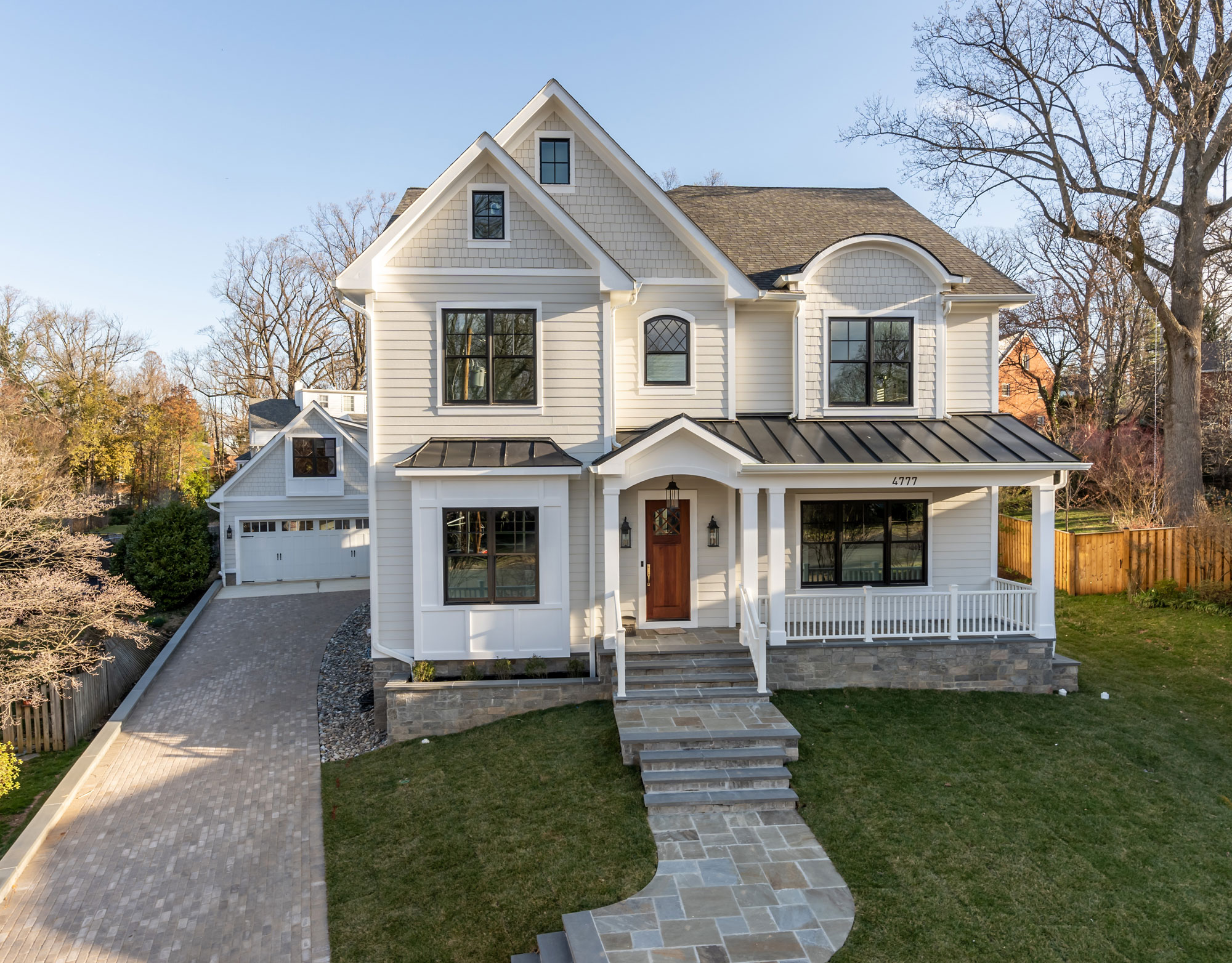 New construction custom designed and built for a family in North Arlington, Virginia